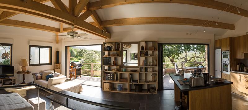 Villa Casasou : salon et terrasse